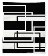 Black And White Art - 151 Fleece Blanket