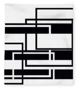 Black And White Art - 152 Fleece Blanket