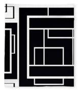 Black And White Art - 153 Fleece Blanket