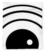 Black And White Art 167 Fleece Blanket