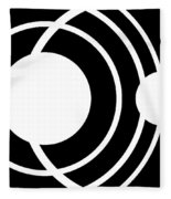 Black And White Art 170 Fleece Blanket
