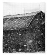 Black And White Barn Fleece Blanket
