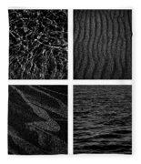 Black And White Beach Fleece Blanket