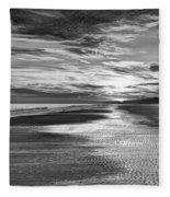 Black And White Beach Fleece Blanket