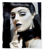 Black And White Beauty Fleece Blanket