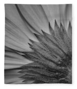 Black And White Blossom Fleece Blanket
