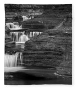 Black And White Cascade Fleece Blanket