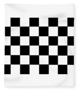 Black And White Checkered Flag Fleece Blanket