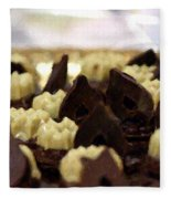 Black And White Chocolate Fleece Blanket