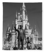 Black And White Disney And Mickey Fleece Blanket