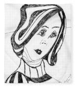 Black And White Fashion Fleece Blanket