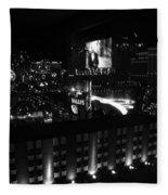 Black And White In Vegas Fleece Blanket
