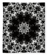 Black And White Medallion 1 Fleece Blanket