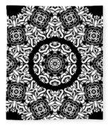 Black And White Medallion 10 Fleece Blanket