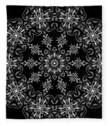 Black And White Medallion 11 Fleece Blanket