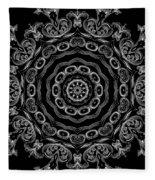 Black And White Medallion 2 Fleece Blanket