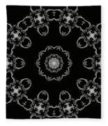 Black And White Medallion 3 Fleece Blanket