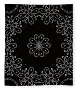 Black And White Medallion 4 Fleece Blanket