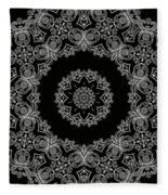 Black And White Medallion 6 Fleece Blanket