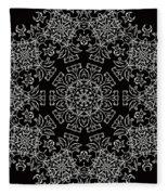 Black And White Medallion 7 Fleece Blanket