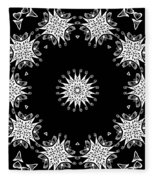 Black And White Medallion 9 Fleece Blanket
