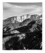 Black And White Mountains Fleece Blanket