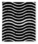 Black And White Postage Fleece Blanket