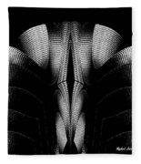 Black And White Fleece Blanket by Rafael Salazar