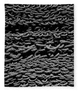 Black And White Rope Stack Fleece Blanket