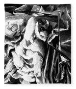 Black And White Ruffles Fleece Blanket