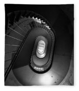 Black And White Spiral Staircaise Fleece Blanket
