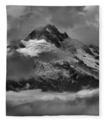 Black And White Tantalus Storms Fleece Blanket