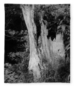 Black And White Tree Fleece Blanket