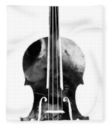 Black And White Violin Art By Sharon Cummings Fleece Blanket