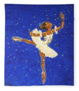 Black Ballerina Fleece Blanket