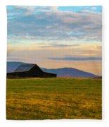 Black Barn Fleece Blanket