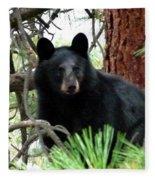 Black Bear 1 Fleece Blanket