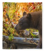 Black Bear Autumn Fleece Blanket