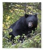 Black Bear II Fleece Blanket
