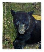 Bear Painting - Scruffy - Profile Cropped Fleece Blanket