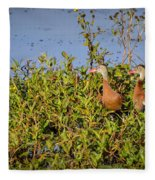 Black-bellied Whistling Ducks Fleece Blanket