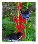 Black Butterflies Fleece Blanket