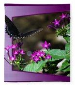 Black Butterfly 07 Fleece Blanket