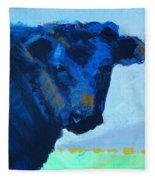Black Calf Fleece Blanket