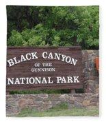 Black Canyon Of The Gunnison National Park Fleece Blanket