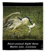 Black-crowned Night Heron At Martin Lake Fleece Blanket