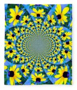 Black Eyed Susan Kaleidoscope Fleece Blanket