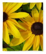 Black-eyed Susans Close Up Fleece Blanket