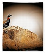 Black Francolin Fleece Blanket