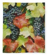 Black Grapes Fleece Blanket